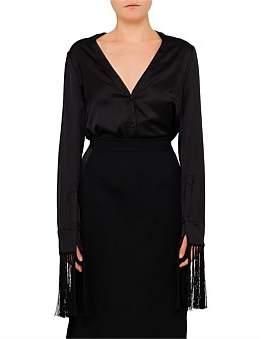 Alexander McQueen French Cuff Silk Blouse