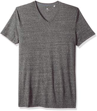 AG Adriano Goldschmied AG Adriano Godschmied Men's Bryce Short Seeve Heathered Vee Neck Tee, Heather Grey