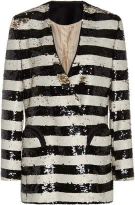 Blazé Milano Kelpie Striped Sequin Blazer