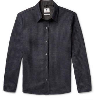 NN07 Lerik Houndstooth Wool-Blend Jacquard Overshirt