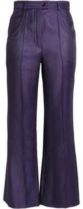 Nina Ricci Wool And Silk-Blend Flared Pants