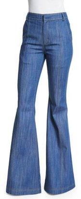 Derek Lam 10 Crosby High-Waist Flare Jeans, Pale Indigo $350 thestylecure.com
