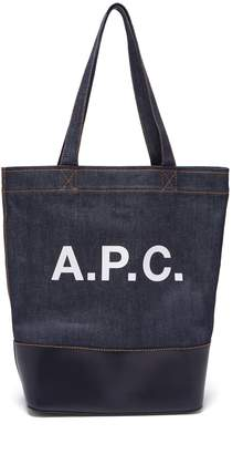 A.P.C. Axel Japanese-denim tote bag