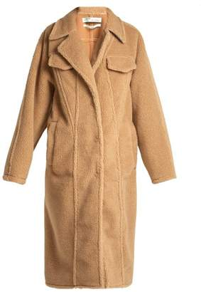Off-White Off White Faux Shearling Coat - Womens - Camel