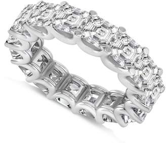 Allurez Asscher-Cut Diamond Eternity Wedding Band Ring in 14k Yellow Gold (9.00ct)