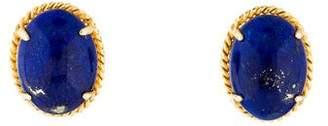 Lapis 14K Lazuli Oval Stud Earrings