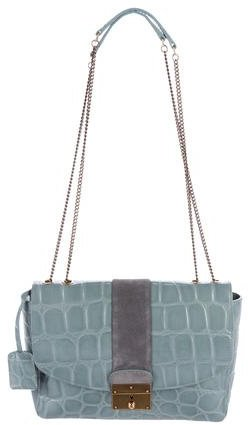 Marc Jacobs Marc Jacobs Embossed Leather Shoulder Bag
