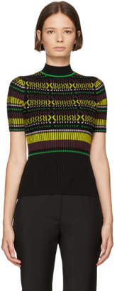 Opening Ceremony Black Striped Knit T-Shirt