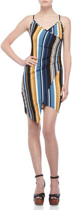 Almost Famous Stripe Wrap Front Dress