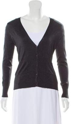 Barneys New York Barney's New York Metallic Silk Cardigan