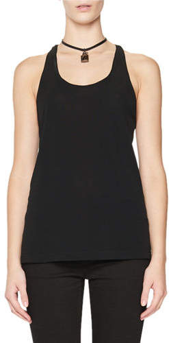 TOM FORD Scoop-Neck Tank with Leather Padlock