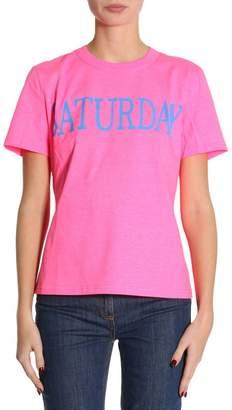 Alberta Ferretti T-shirt Slim Fit Stretch Cotton T-shirt Rainbow Week With Saturdayprint