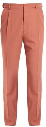 Bottega Veneta Pleated straight-leg wool trousers
