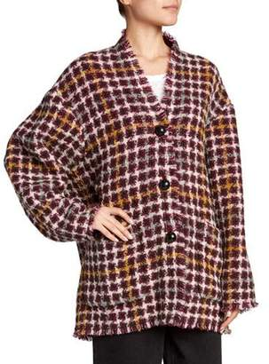 Isabel Marant Dianaly Check Tweed Coat