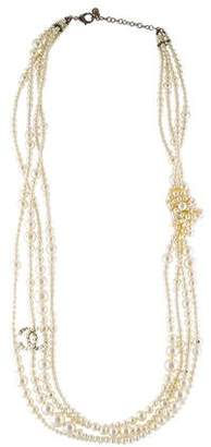 Chanel Pearl Knot Multistrand Necklace