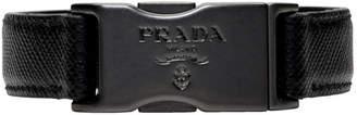 Prada (プラダ) - Prada ブラック サフィアーノ プレスリリース ブレスレット