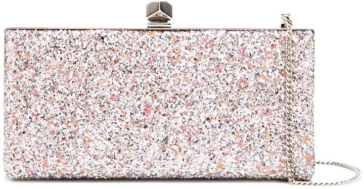 Jimmy ChooJimmy Choo Celeste glitter clutch