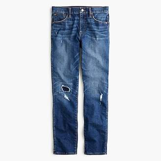 J.Crew Petite vintage straight jean in rip-and-repair