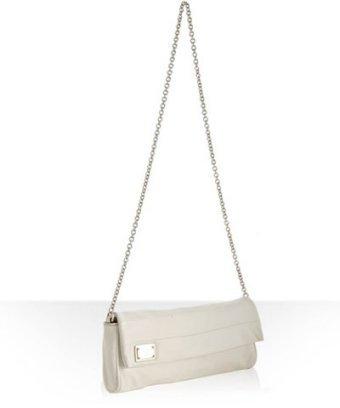Dolce & Gabbana white leather 'Miss Martini' chain shoulder bag