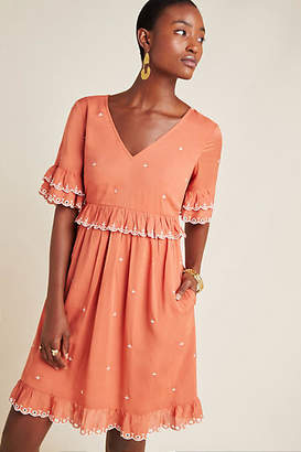 Anthropologie Samia Ruffled Tunic Dress