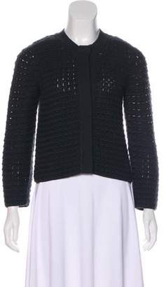 Akris Cashmere Crocheted Cardigan