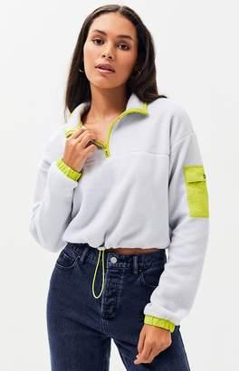 LA Hearts Kelly Polar Half Zip Sweatshirt