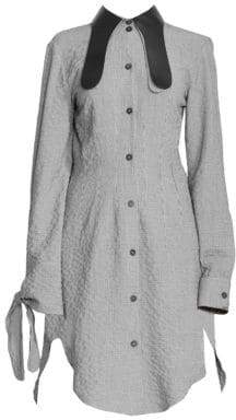Loewe Collared Long Asymmetric Shirtdress