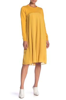 ENGLISH FACTORY Pleated Sweater Top Dress
