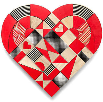 One Kings Lane Heart Puzzle - Red/Black