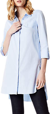 Karen Millen Long Tunic Shirt, Pale Blue