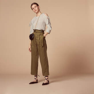 Sandro Trousers with double loop belt
