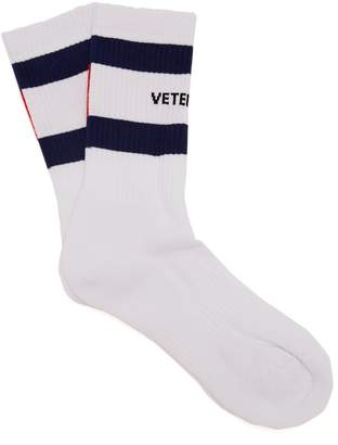 Vetements X Tommy Hilfiger cotton-blend socks