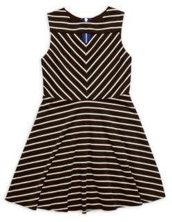 Girl's Rachel Horizontal Striped Dress $72 thestylecure.com