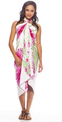 a63acdbe549dc 1 World Sarongs Womens Hawaiian Swimsuit Cover-Up Sarong in