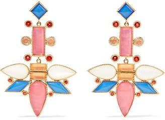 Larkspur & Hawk - Cora Topsy-turvy 14-karat Gold Multi-stone Earrings
