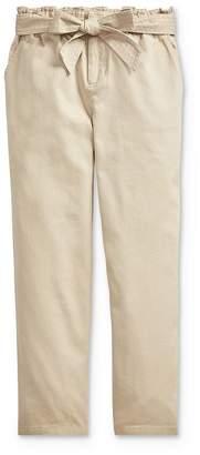 Ralph Lauren Girls' Belted Paperbag Pants - Big Kid