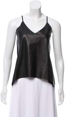 Mason Sleeveless Leather Top