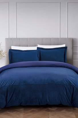 California Design Den by NMK Luxury French Velvet Comforter Set - Royal Blue