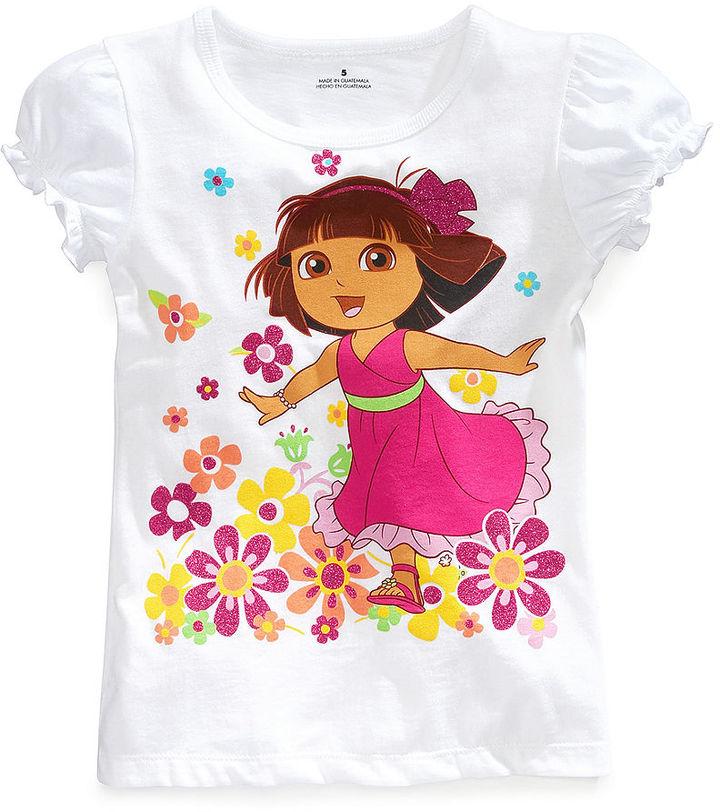 Dora The Explorer Kids Shirts, Little Girls Graphic Tees