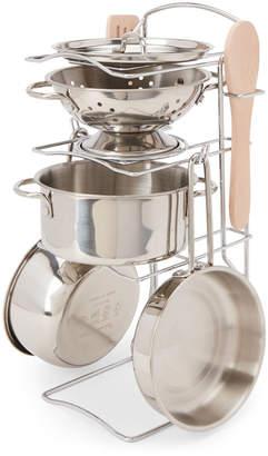 Melissa & Doug 8-Piece Stainless Steel Pots & Pans Set