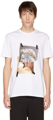 Neil Barrett White Brutus Lion T-Shirt