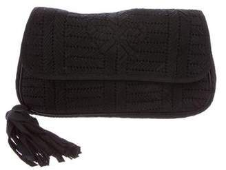 Anya Hindmarch Woven Flap Clutch