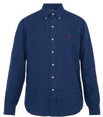 Polo Ralph Lauren Button Down Slubbed Linen Poplin Shirt - Mens - Navy