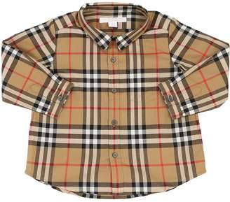 Burberry Woven Check Cotton Shirt