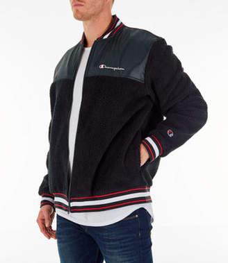 Champion Mens Sherpa Baseball Jacket