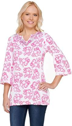 Factory Quacker Island Floral 3/4 Sleeve Tunic