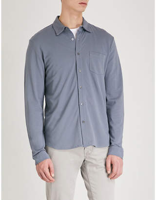 Sunspel Long-sleeved cotton-piqué polo shirt
