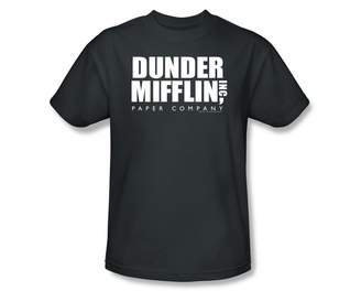 Office The Dunder Mifflin Logo Slim Fit Adult T-Shirt In