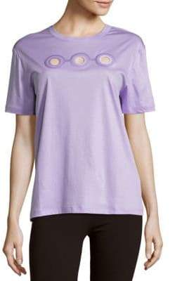 Carven Jewelneck Cotton Tee
