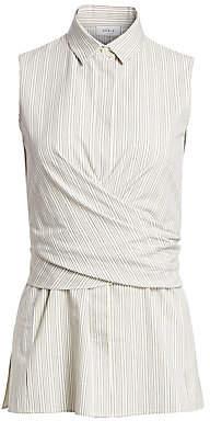 Akris Punto Women's Sleeveless Striped Wrap Blouse